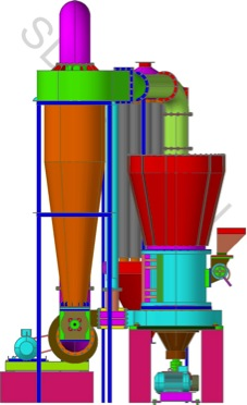 Five Roller Mill Assembly